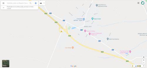 Fort Křelov mapa